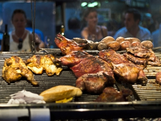 Grilled meat in Montevideo