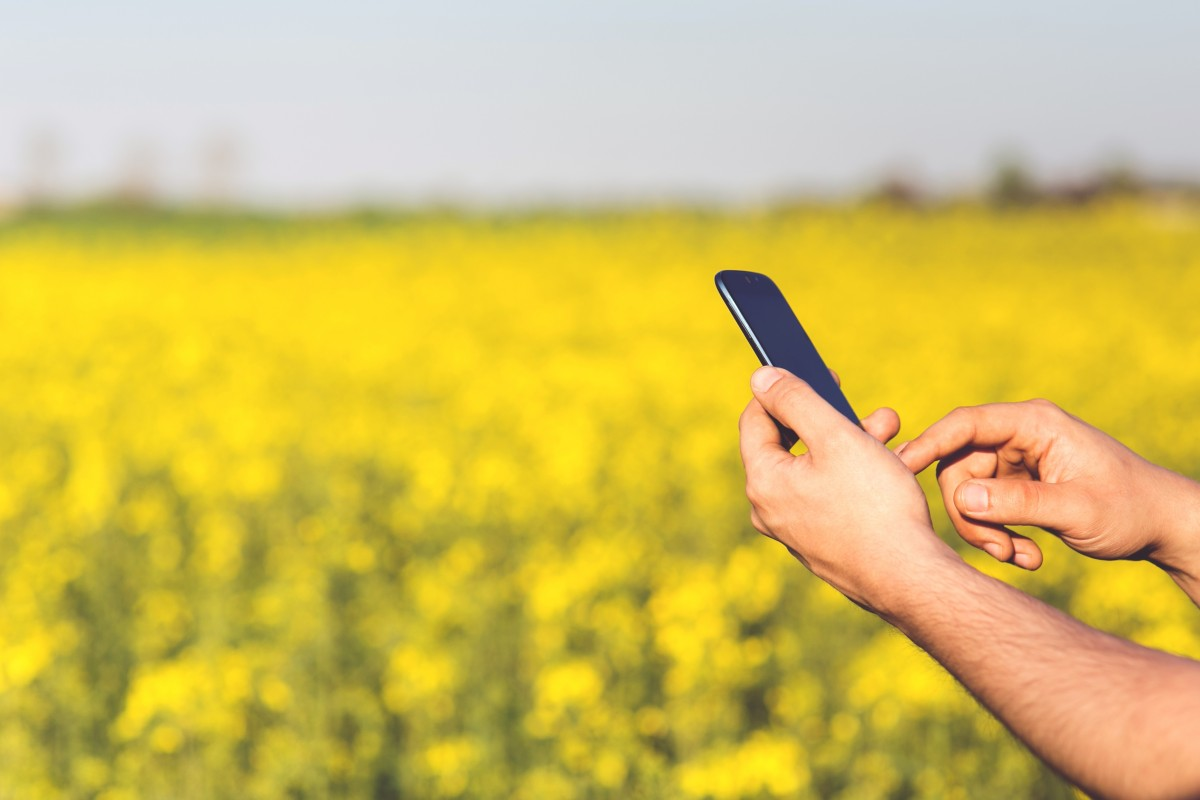 Monitoring agriculture via smartphone