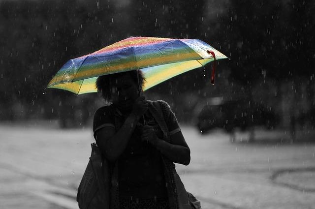 Woman carrying an umbrella