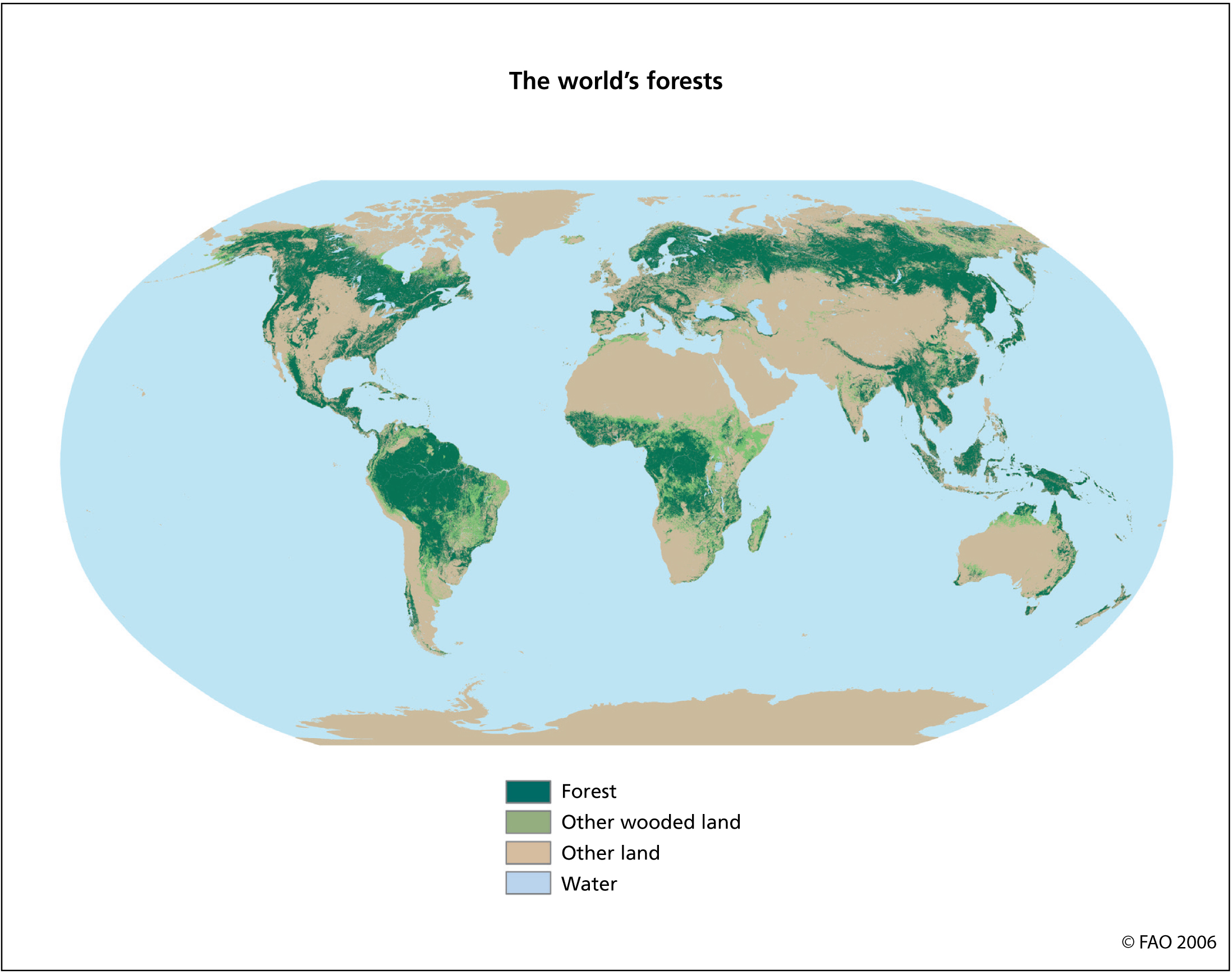 the forest world map Maps And Figures Global Forest Resources Assessments Food And