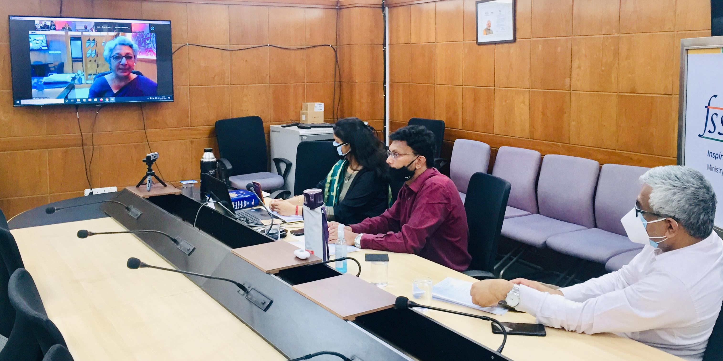 India delegation in Delhi listens to Rita Teaotia at CCSCH5