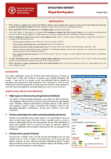Nepal earthquakes - Situation report 18 April 2016