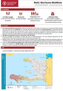 Haiti: Hurricane Matthew - Situation report 22 December 2016