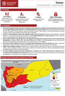 Yemen - Situation report September 2016