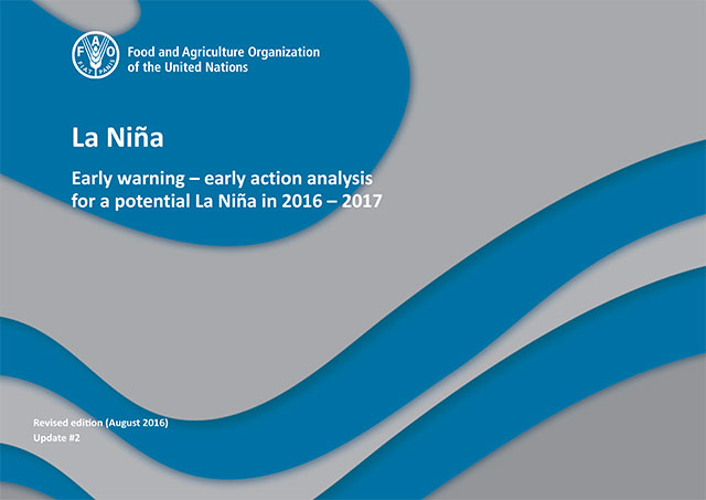 La Niña: Early Warning - Early Action analysis for a potential La Niña in 2016–2017 UPDATE #2