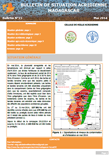 Madagascar - Bulletin de situation acridienne N. 15 - Mai 2014
