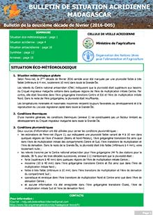 Madagascar - Locust situation bulletin D05 - February 2016 (in FRENCH)