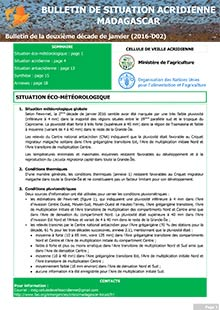 Madagascar - Locust situation bulletin D02 - January 2016 (in FRENCH)