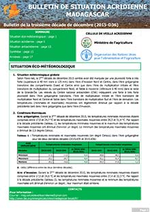 Madagascar - Locust situation bulletin D36 - December 2015 (in FRENCH)