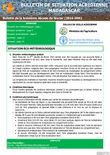 Madagascar - Locust situation bulletin D06 - February 2016 (in FRENCH)
