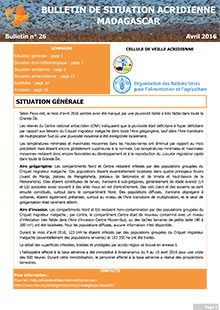 Madagascar - Bulletin de situation acridienne N. 26 - avril 2016
