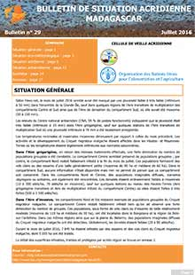 Madagascar – Locust Situation bulletin N. 29 – July 2016 (in FRENCH)