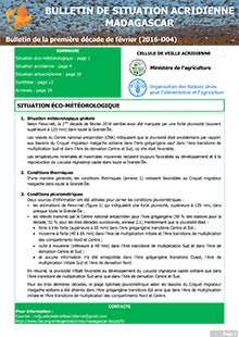 Madagascar - Locust situation bulletin D04 - February 2016 (in FRENCH)