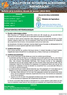 Madagascar - Locust situation bulletin D03 - January 2016 (in FRENCH)