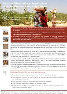 Food security and humanitarian implications in West Africa and the Sahel - FAO/WFP Joint Note, November 2016 (in FRENCH)