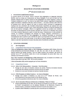 Madagascar - Bulletin de situation acridienne N. 1 - Mars 2013