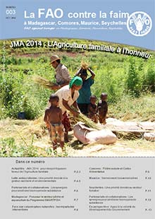 FAO against hunger in Madagascar, Comoros, Mauritius, Seychelles - Newsletter N. 3 October 2014 (in FRENCH)