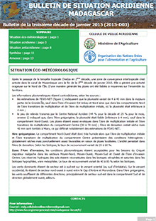 Madagascar - Locust situation bulletin D03 - January 2015 (in FRENCH)