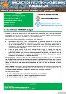 Madagascar - Locust situation bulletin D05 - February 2015 (in FRENCH)
