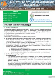 Madagascar - Locust situation bulletin D08 - March 2015 (in FRENCH)