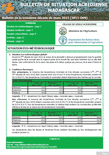 Madagascar - Locust situation bulletin D09 - March 2015 (in FRENCH)