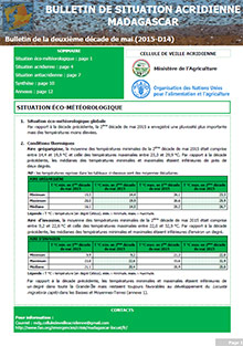 Madagascar - Locust situation bulletin D14 - May 2015 (in FRENCH)