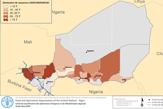 Emergency distribution of food crop seeds to vulnerable households affected by the critical agricultural production deficit in Niger