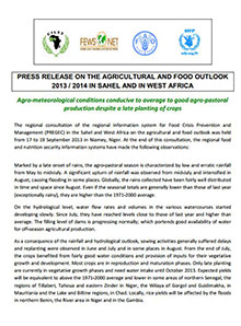 Agricultural and food outlook 2013 / 2014 in Sahel and West Africa