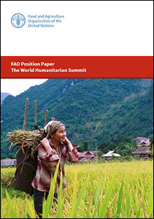 FAO Position Paper - The World Humanitarian Summit