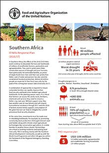 Southern Africa - El Niño Response Plan 2016/17 (Short version)