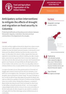 Anticipatory action interventions to mitigate the effects of drought and migration on food security in Colombia