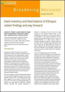 Ethiopia | Feed inventory and feed balance: salient findings and way forward