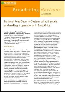 National Feed Security System: what it entails and making it operational in East Africa