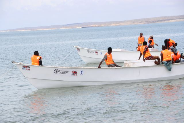 Somalia | FAO and FCDO provide marginalized fisherfolks with ice for the first time in Bajuni Islands