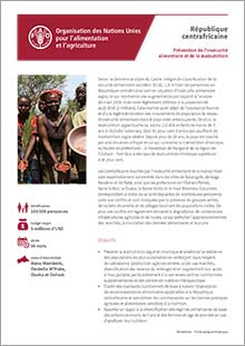 Prevention of food insecurity and malnutrition in the Central African Republic (in FRENCH)
