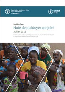 Burkina Faso | Joint advocacy paper FAO/WFP July 2019 (in FRENCH)