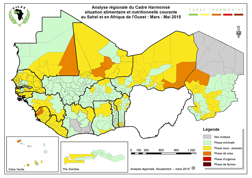 Sahel And West Africa Cadre Harmonise Analysis March May 2015