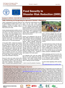 Food Security in Disaster Risk Reduction Newsletter - Vol. 1 Issue 9, July 2011