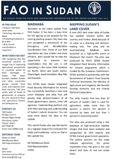 FAO Sudan Monthly Newsletter - April 2012