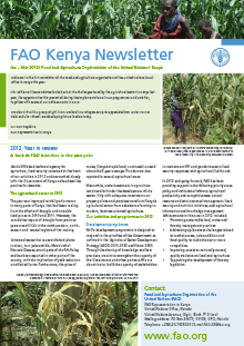 FAO Kenya Newsletter: January – March 2013