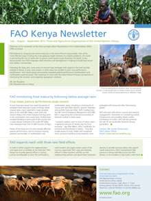 FAO Kenya Newsletter: July - September 2012