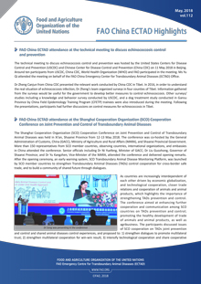 FAO ECTAD China Highlights May 2018