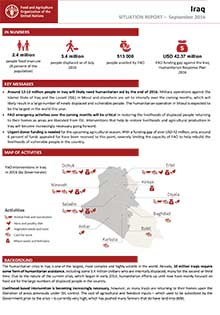 Iraq - Situation report September 2016
