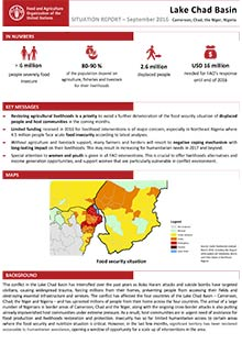 Lake Chad Basin - Situation report September 2016