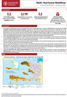 Haiti: Hurricane Matthew - Situation report 16 March 2017