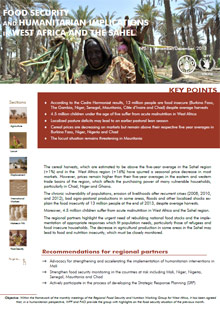 Food Security and humanitarian implications in West Africa and the Sahel - FAO/WFP Joint Note, November/December 2013