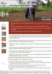 Food security and humanitarian implications in West Africa and the Sahel - FAO/WFP Joint Note, July 2015