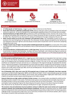 Yemen - Situation report November 2017