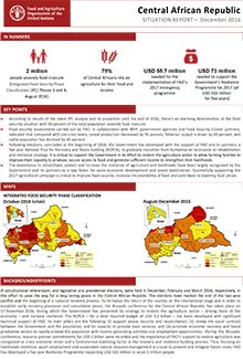 Central African Republic - Situation report December 2016
