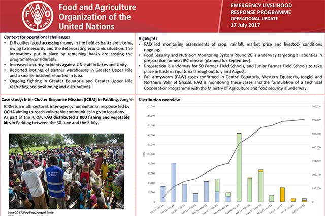 South Sudan Operational overview - 17 July 2017